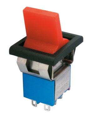 Přepínač páčkový 2pol./6pin ON-ON plastic/II 12V