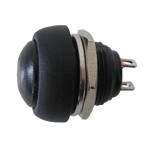 Přepínač tlačítko kul. OFF-(ON) střed černý