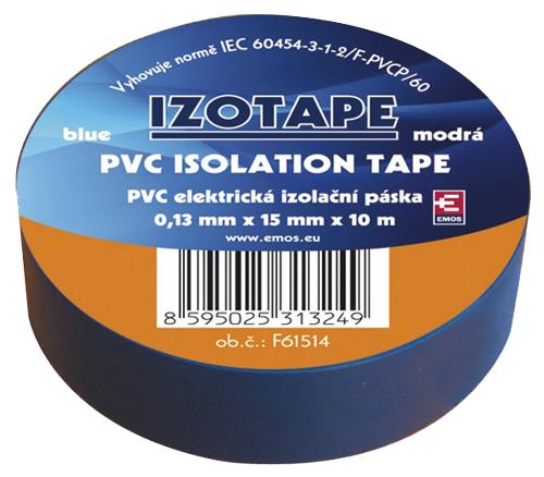 Páska izolačná PVC 15/10m modrá EMOS
