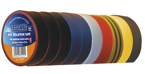 Izolační páska PVC 15/10m barevný mix 10ks