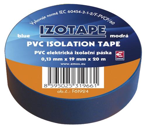 Izolační páska PVC 19/20m modrá
