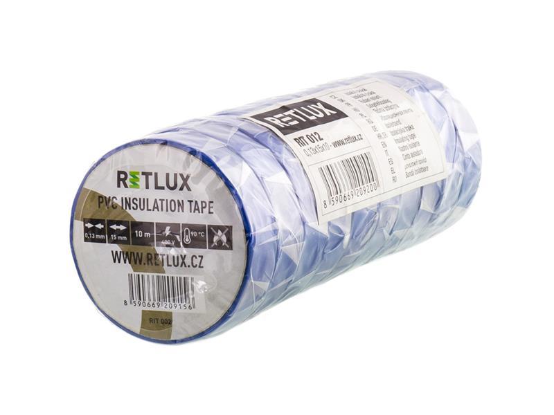 Izolační páska PVC 15/10m RETLUX RIT 012 10ks modrá