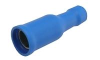 Zdířka kruhová 4mm, vodič 1.5-2.5mm modrá