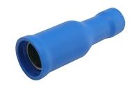 Zdířka kruhová 5mm, vodič 1.5-2.5mm modrá