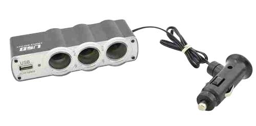 Rozbočovač autozásuvky 12V + USB