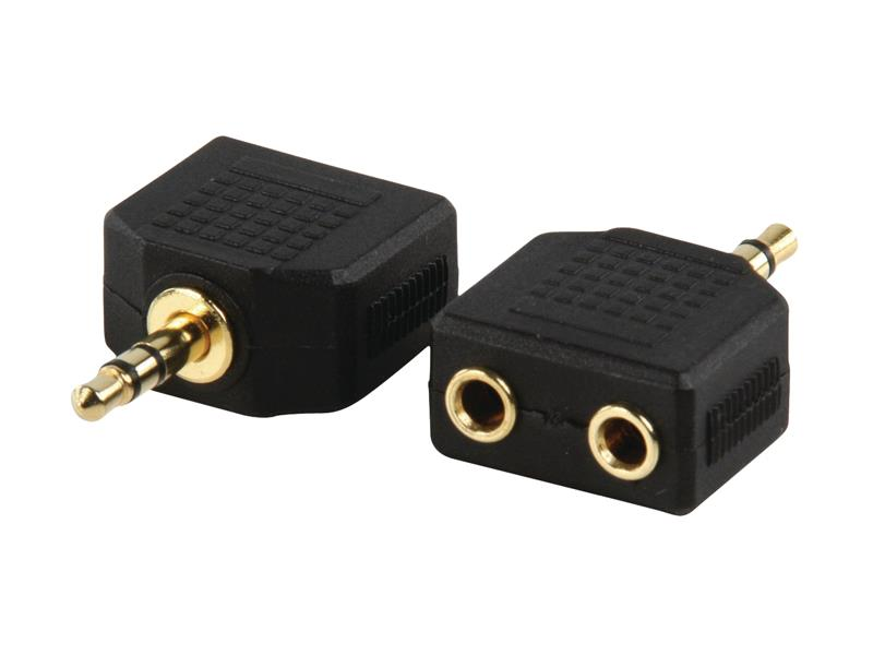 Redukcia JACK 3.5 mm - 2x JACK 3.5 mm VALUELINE AC-012GOLD