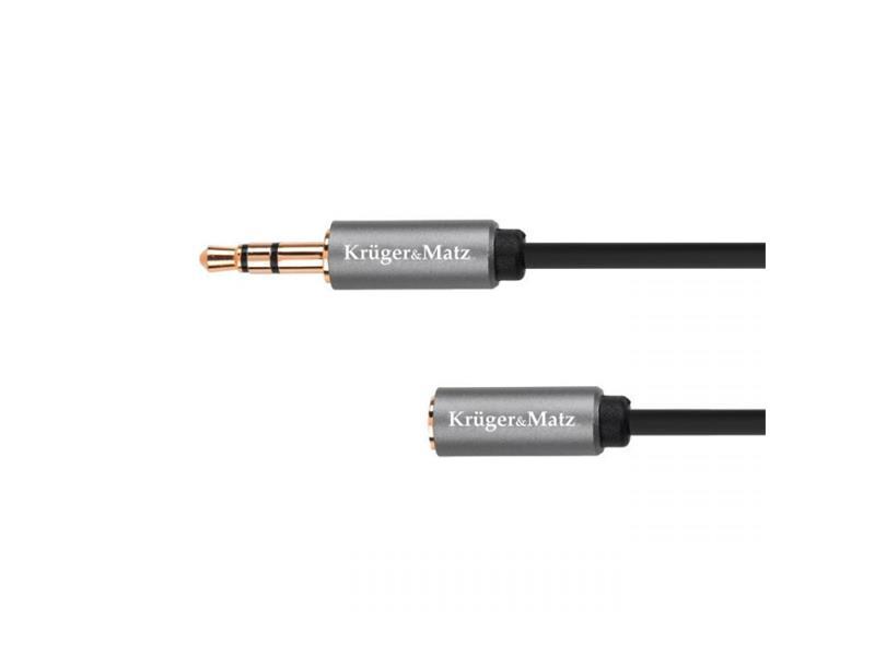 Kábel KRUGER & MATZ JACK 3.5 konektor/JACK 3.5 zdierka 1,8m