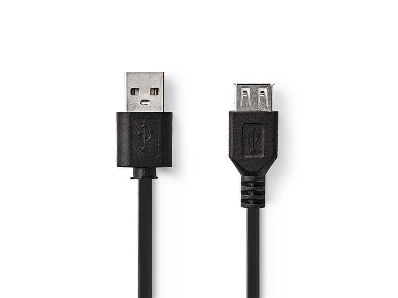 Kábel 1x USB 2.0 A konektor - 1x USB 2.0 A zdierka 3m NEDIS