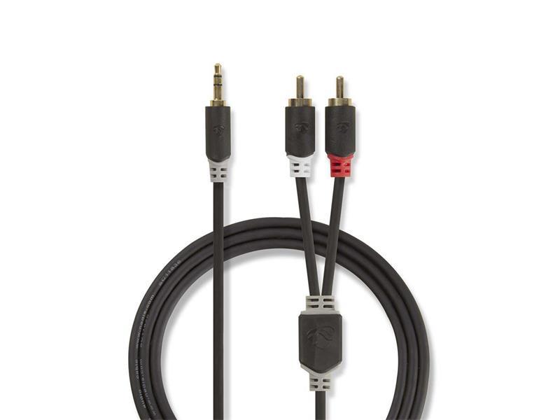 Kábel NEDIS JACK 3.5 stereo/2xCINCH 5m