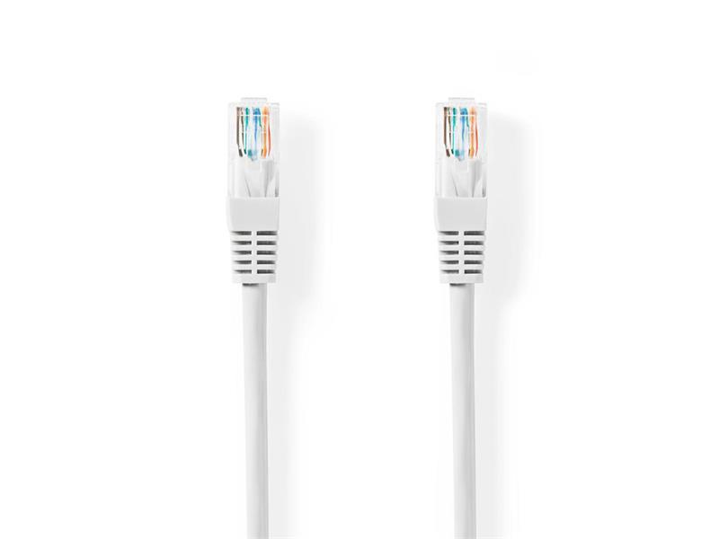 Kábel UTP 1x RJ45 - 1x RJ45 Cat5e 5m WHITE NEDIS CCGT85100WT50