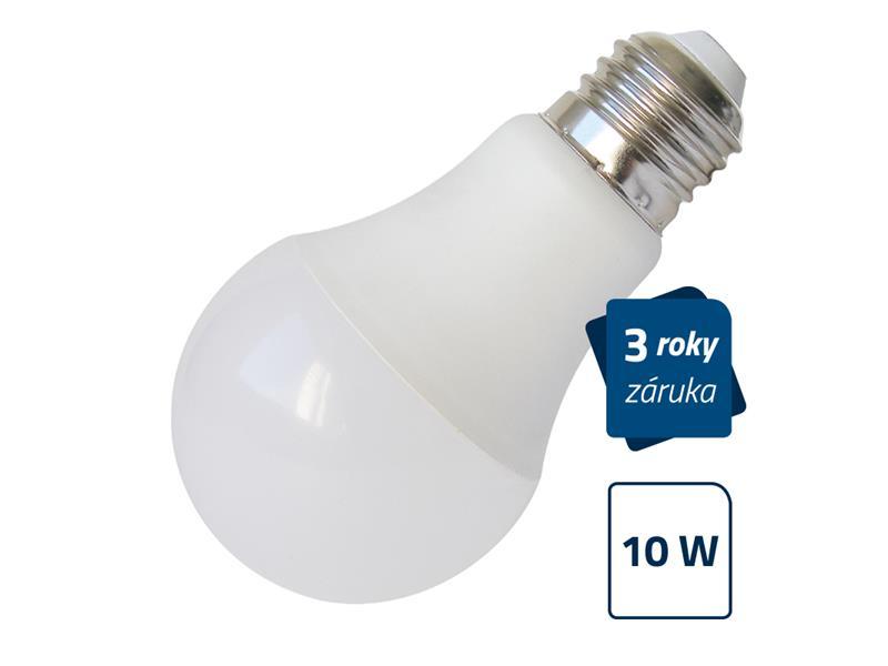 LED žiarovka Geti A60, E27, 10W, teplá biela