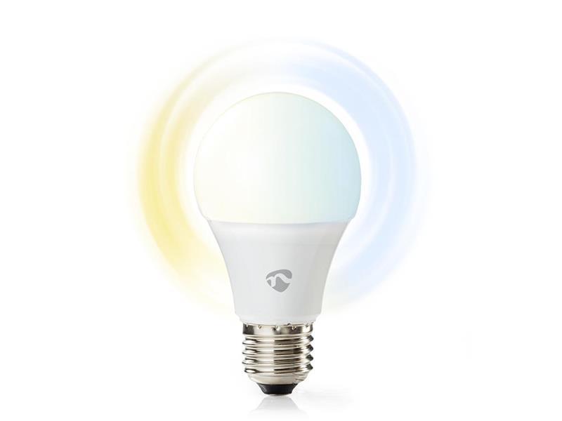 Múdra WiFi žiarovka LED E27 9W biela NEDIS WIFILW13WTE27