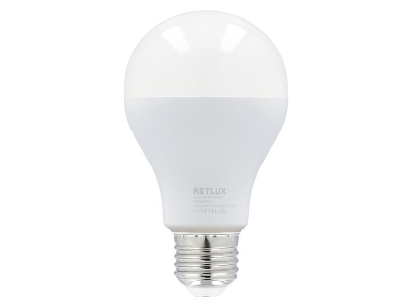 Žiarovka LED E27 20W A67 biela teplá RETLUX RLL 323