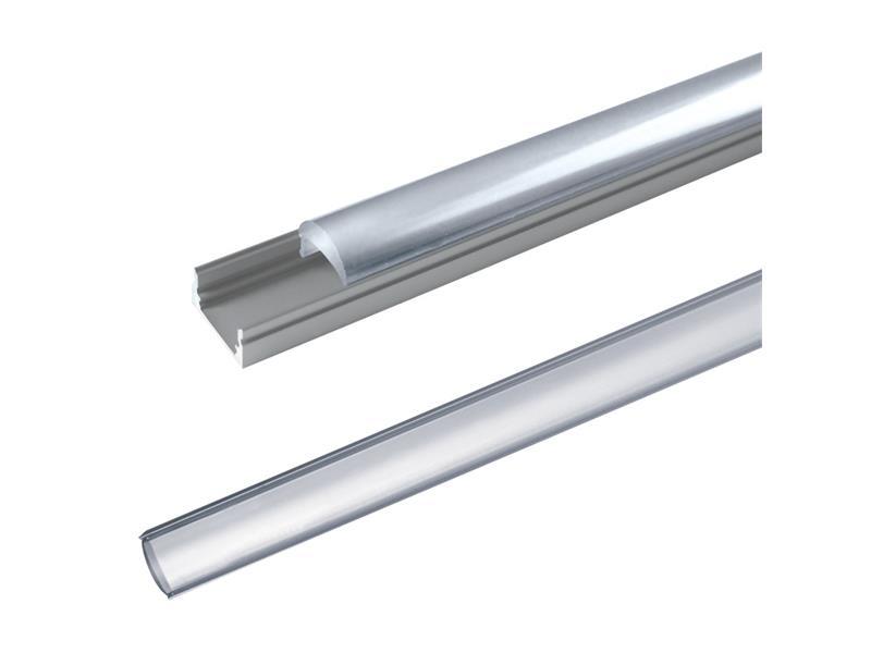 Hliníkový profil AL60 pre LED pásiky, povrchový, s vypuklým difúzorom, 1m