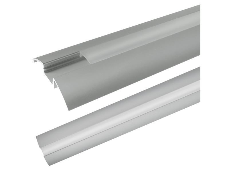 Hliníkový profil AR6 pre LED pásiky, povrchový, s difúzorom, 2m