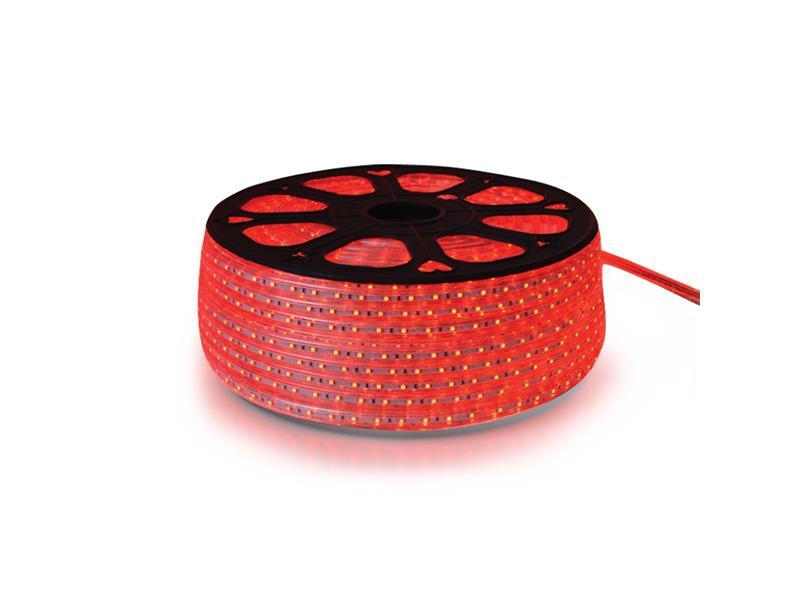 LED pásik 230V, 3528 60LED/m IP67 max. 4.8W/m červená (cievka 100m) zaliatý