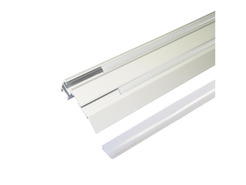 Hliníkový profil Stair pre LED pásiky, s difúzorom, 1m