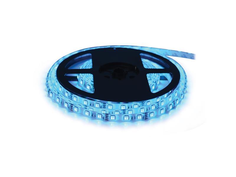 LED pásik 24V 3528 60LED/m IP65 max. 4.8W/m modrá (cievka 5m) zaliatý