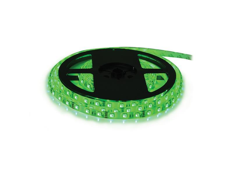 LED pásik 12V 3528 60LED/m IP65 max. 4.8W/m zelená (cievka 10m) zaliaty