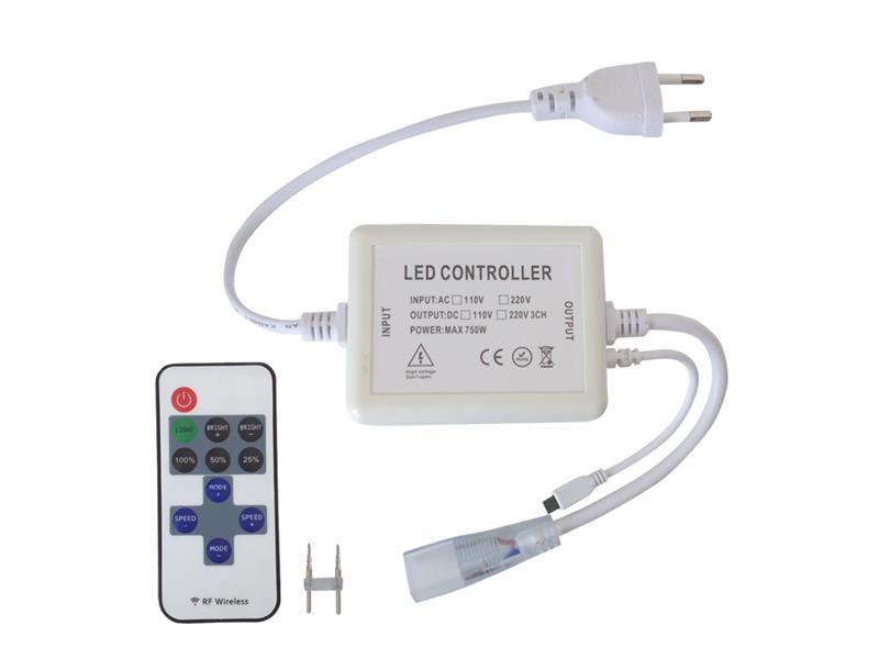 TIPA LED kontroler pro LED pásky 230V s čipem 5050 + dálkové ovládání