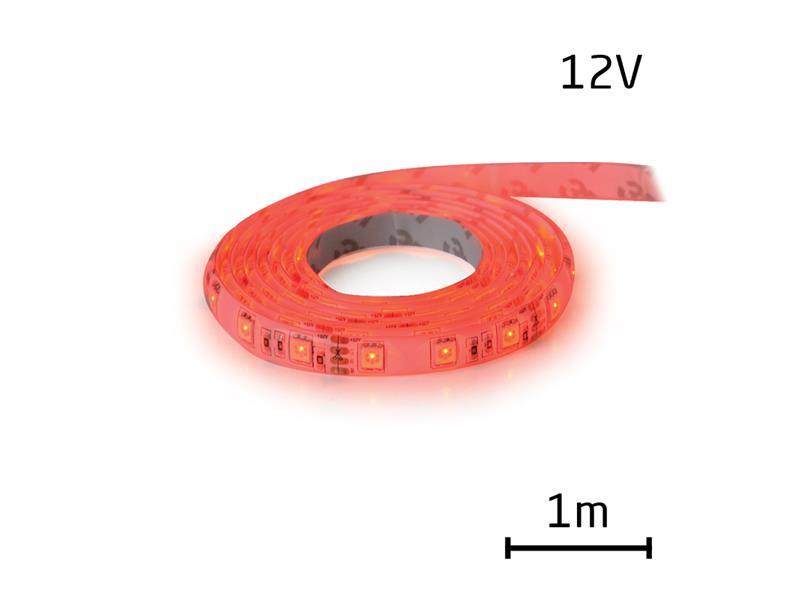 LED pásik 12V 3528 60LED/m IP65 max. 4.8W/m červená (cievka 1m) zaliaty