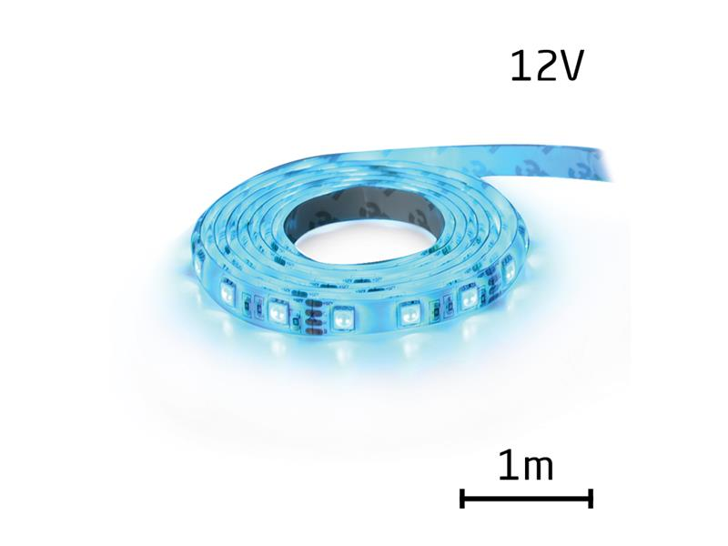 LED pásik 12V 3528 60LED/m IP65 max. 4.8W/m modrá (cievka 1m) zaliaty