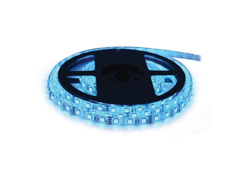 LED pásik 24V 3528 60LED/m IP65 max. 4.8W/m modrá (cievka 1m) zaliatý