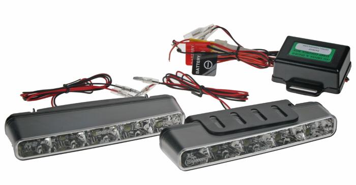 Světla pro denní svícení LED SJ-296E TYP2,kosoúhlá,homologace