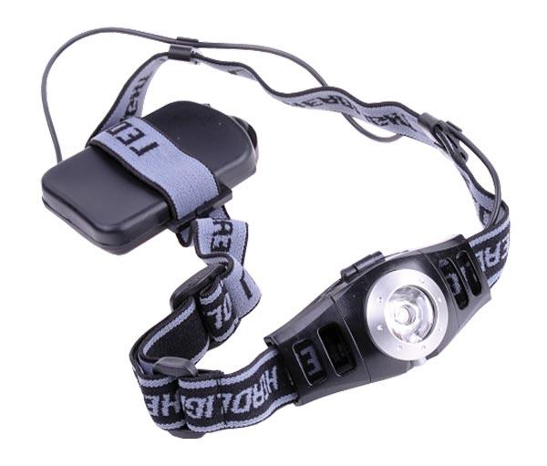Svítilna čelovka LED 3W s regulací jasu