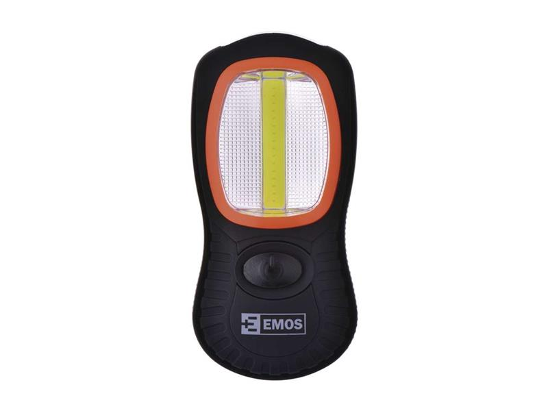LED svietidlo, COB + 3 LED, na 3x AAA, ABS materiál