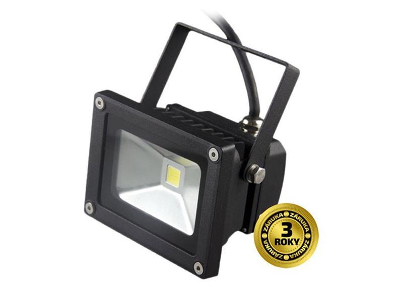 LED vonkajšie reflektor, 10W, 700l, AC 230V, čierna