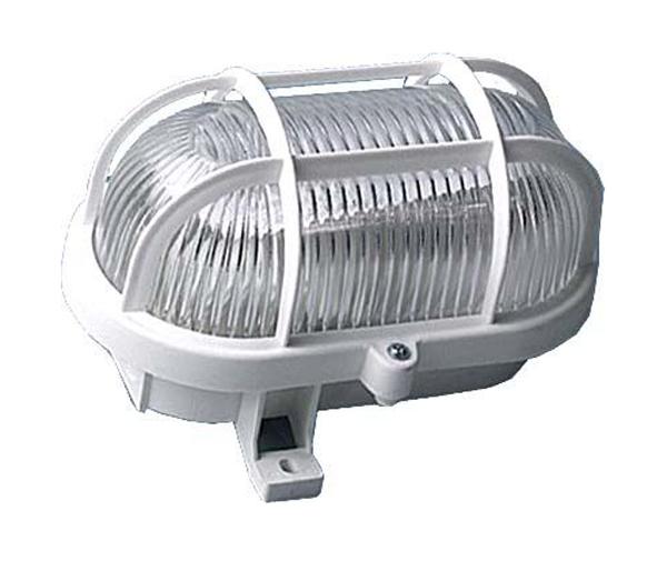 Nástěnné světlo 230/60W bílé, oválné