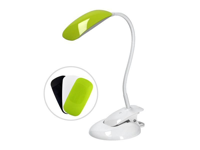 Svítidlo stolové LED stmívateľná lampička 2v1, podstavec i klip, 5W 4000K, 3 farebné kryty WO42