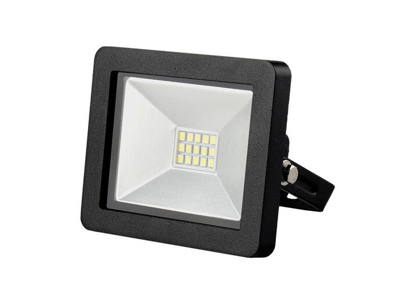 LED vonkajšie reflektor SLIM, 10W, 700l, 3000K, čierny WM-10W-G
