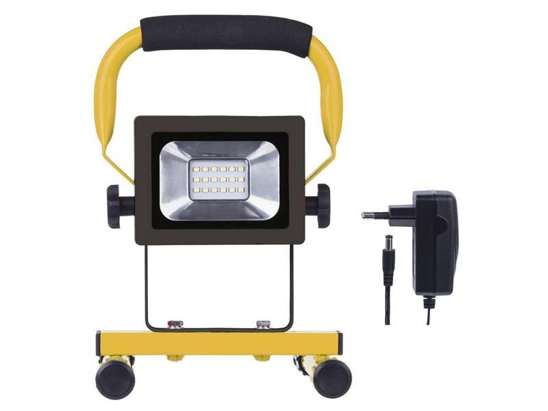 LED reflektor 10W AKU SMD, studená biela