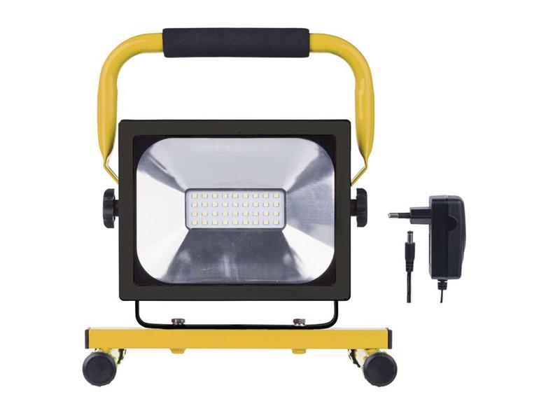 LED reflektor 20W AKU SMD, studená biela