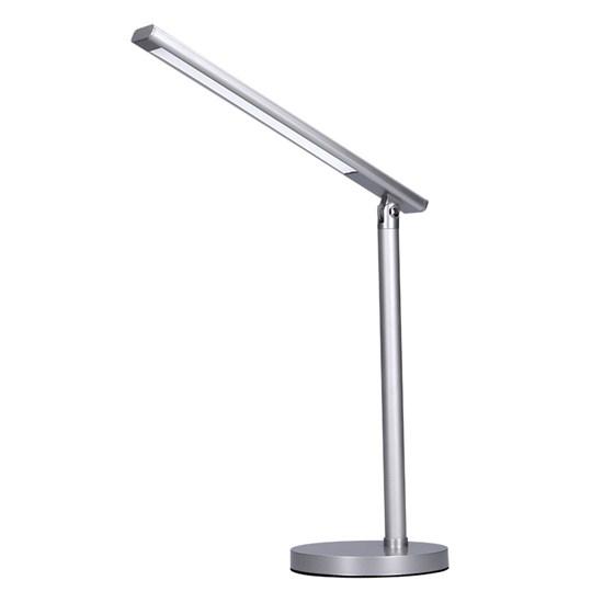 Svietidlo stolná LED lampička stmievateľná, 7W, stmievateľná, zmena chromatickosti, strieborná WO53-