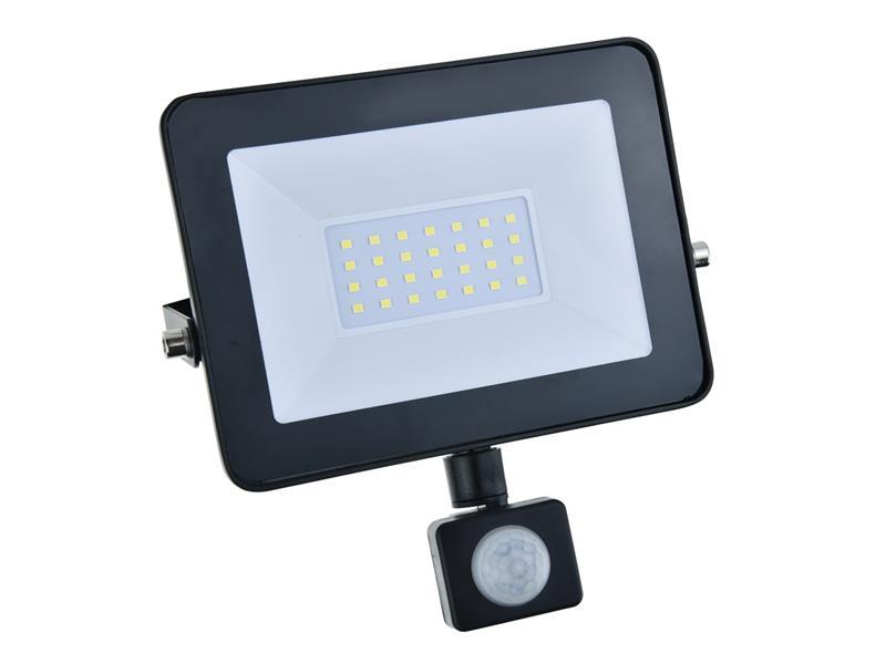 LED reflektor GETI GLF30P 30W s PIR čidlom