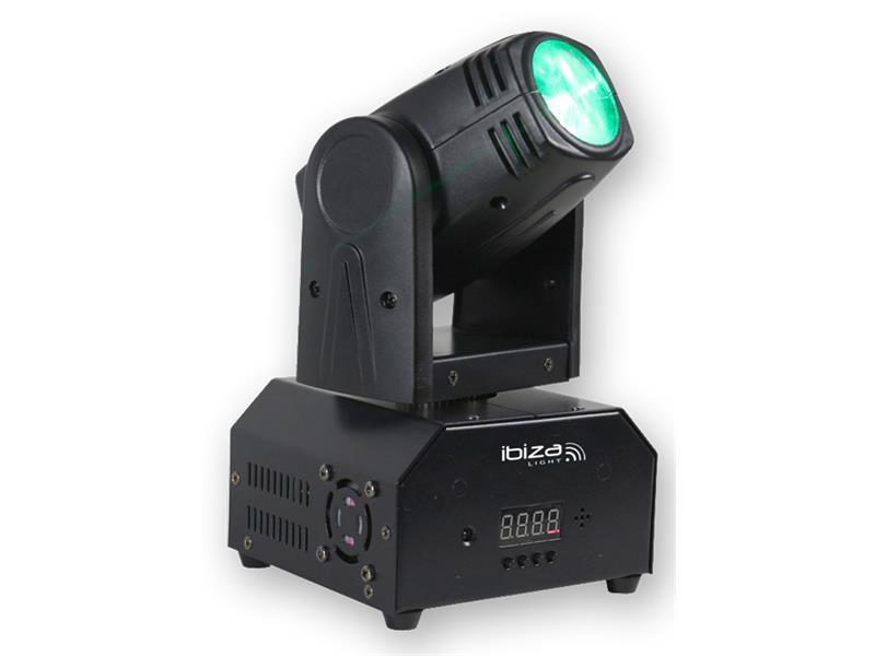 Efekt Otočná hlavice 10W RGBW LED, DMX & Dálkové ovládání, LMH250-RC