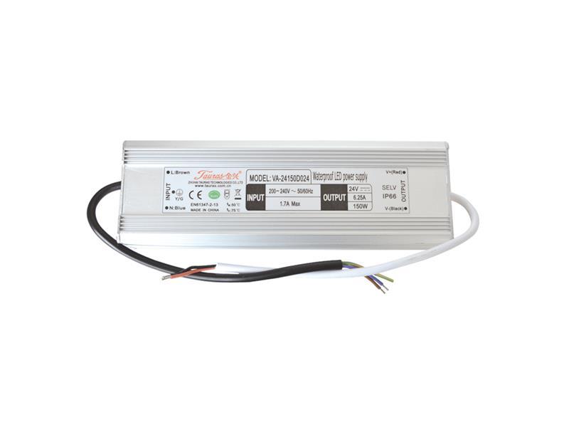 Zdroj pre LED pásiky IP66, 24V/150W/6,25A