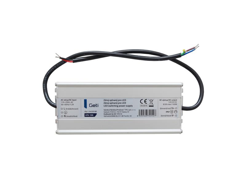 Zdroj spínaný pre LED 12V/100W Geti LPV-100