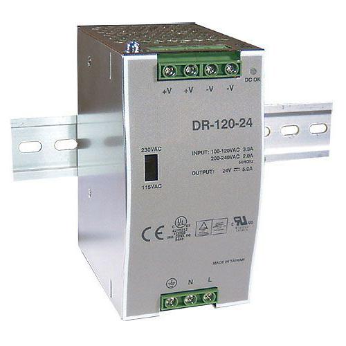 Zdroj 24V/120W spínaný DR-120 na DIN lištu