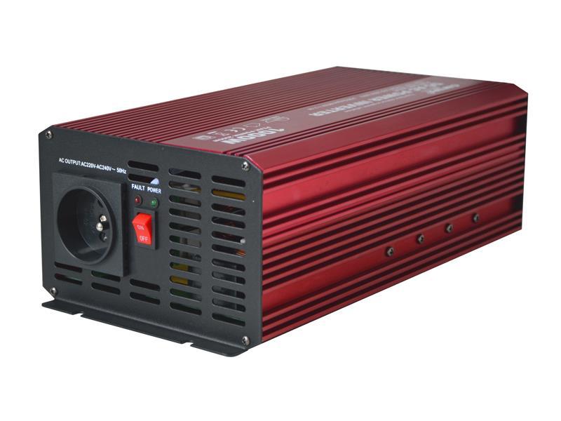Menič napätia CARSPA P1000 12V/230V 1000W čistá sínusoida USB