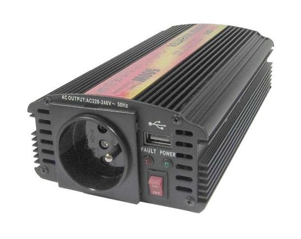 Menič napätia CARSPA CAR 500 24V/230V 500W USB