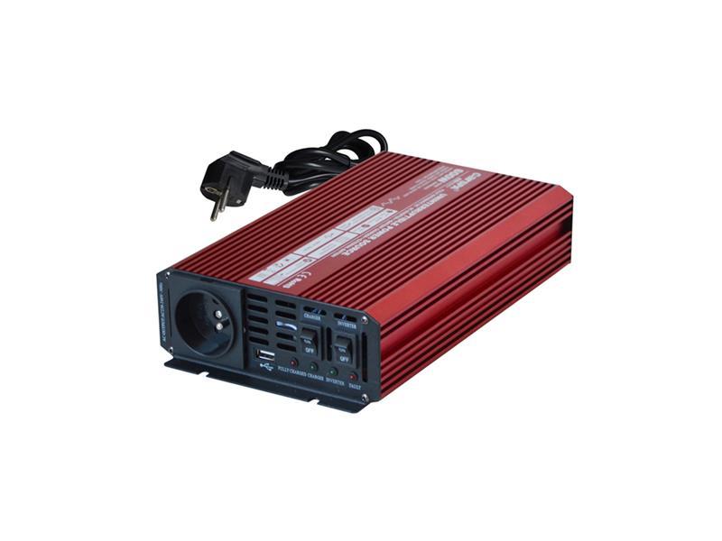 Menič napätia CARSPA UPS600 12V/230V 600W + UPS + nabíjačka