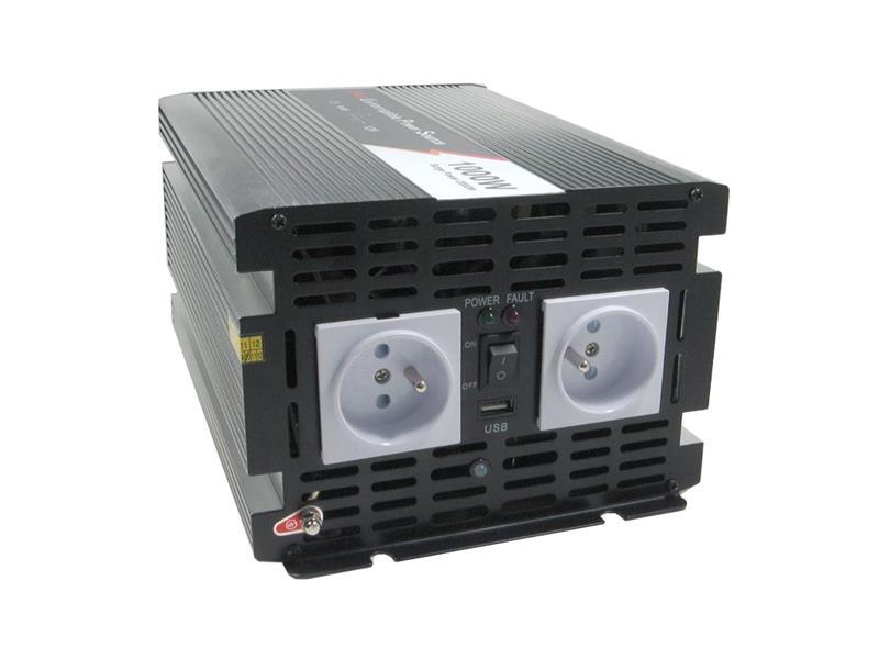 Měnič napětí 12V/230V 1000W CZ čistá sinusovka UPS + nabíječka JYINS