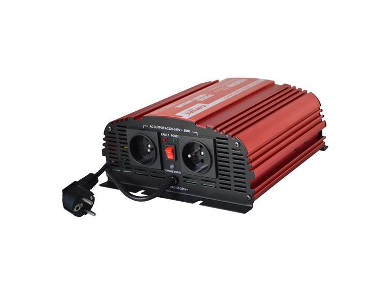Menič napätia CARSPA CPS 600 12V/230V 600W čistá sínusoida+ UPS+ nabíjačka
