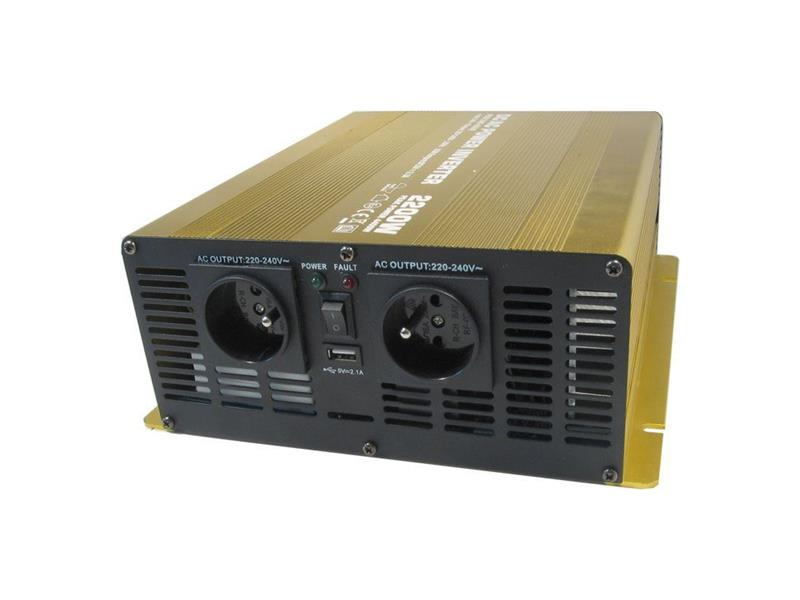 Menič napätia 12V/230V 2200W CZ čistá sinusovka Soluowill