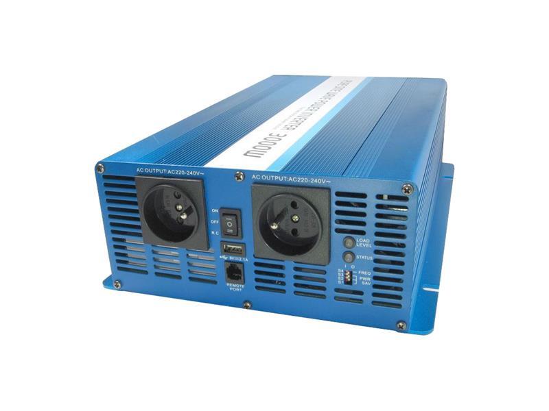 Menič napätia 24V/230V 3000W CZ čistá sinusovka CARSPA