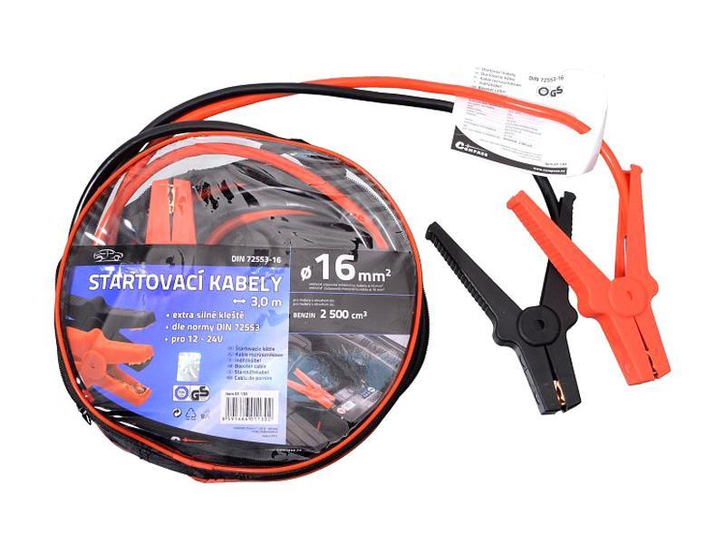 Kabely startovací 16mm2 se svorkami 3m TÜV/GS DIN72553